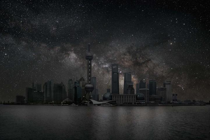 夜色阑珊 星光璀璨:黑暗城市的绝美星空 组图