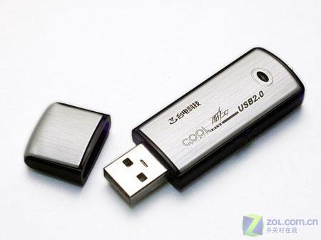 台电钛金2GB优盘外观