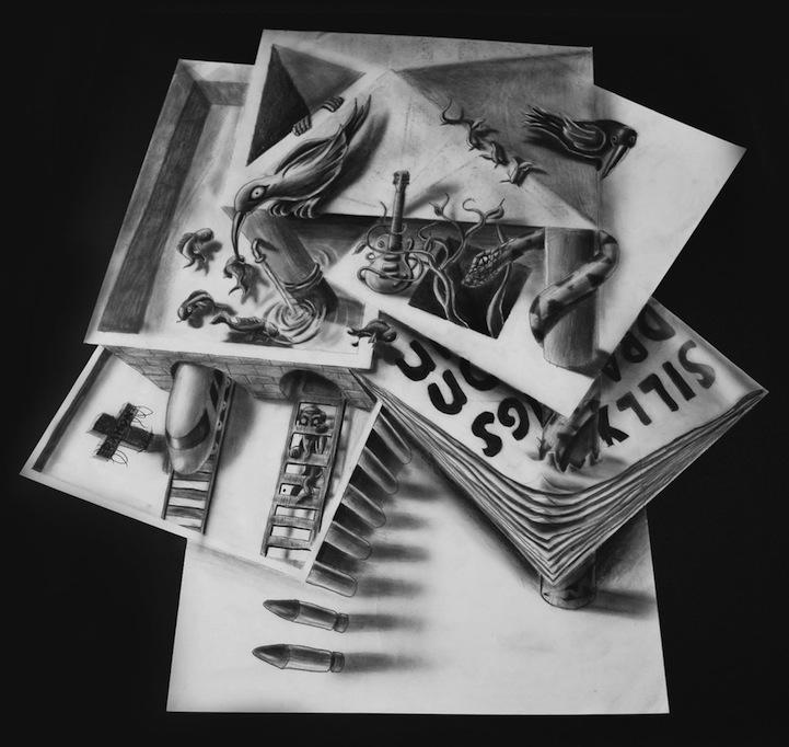 二维纸片上的3d立体画:奇妙的视觉艺术 组图