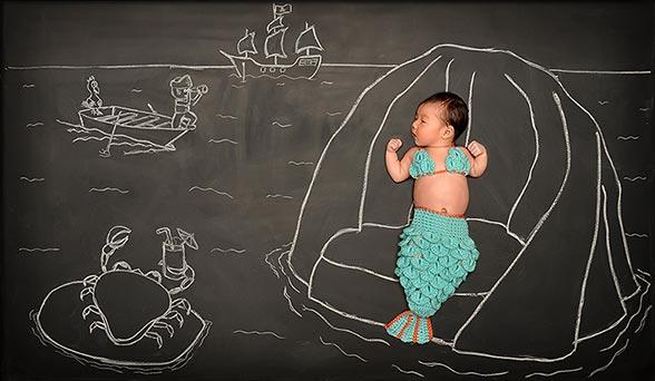 新生婴儿奇幻剧 超有趣的创意儿童摄影 组图