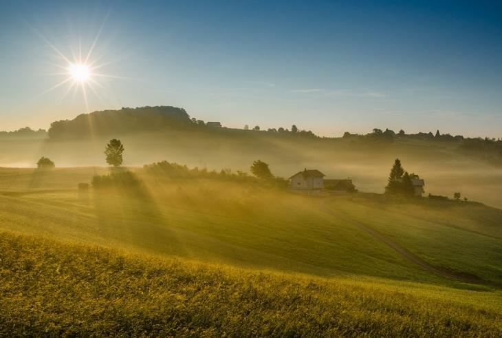 中欧摄影师作品:清晨的绝美田园风光套图-第1张