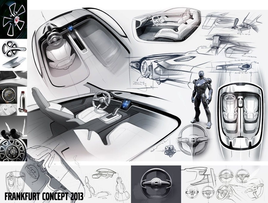 沃尔沃颠覆传统的概念轿跑 科技感十足 沃尔沃颠覆传统的概念轿跑套高清图片