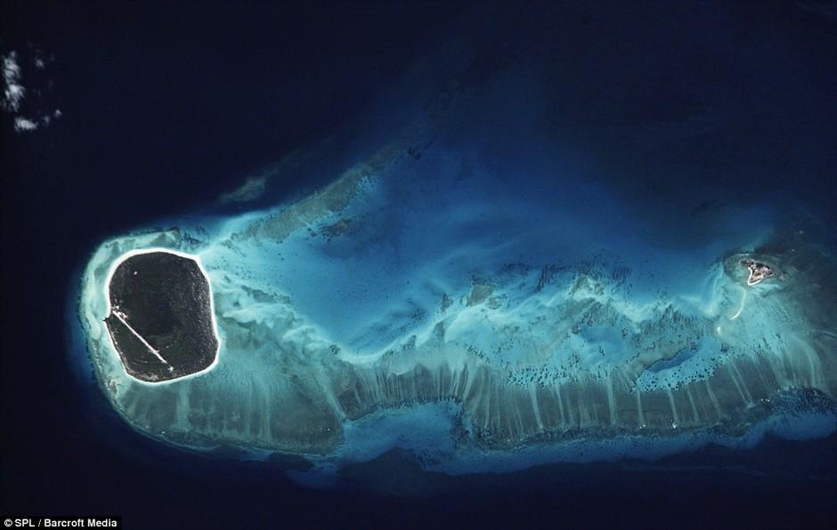 而夏威夷群岛看上去略微有些像是山羊的头部