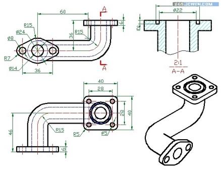 Auto CAD三维基础实例:弯管制作教程