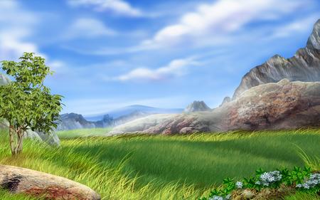请看《高清宽屏ps唯美风景壁纸欣赏》 全手工绘制vista壁纸 清晰度达