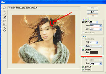 Photoshop实例教程:抠发--我的方法