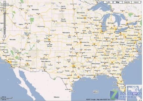 maps得到的美国电子地图