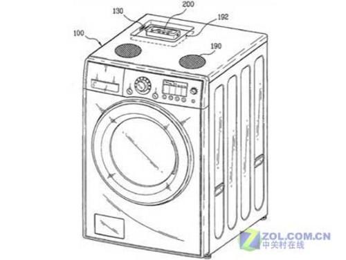 图为lg滚筒洗衣机的专利申请设计图