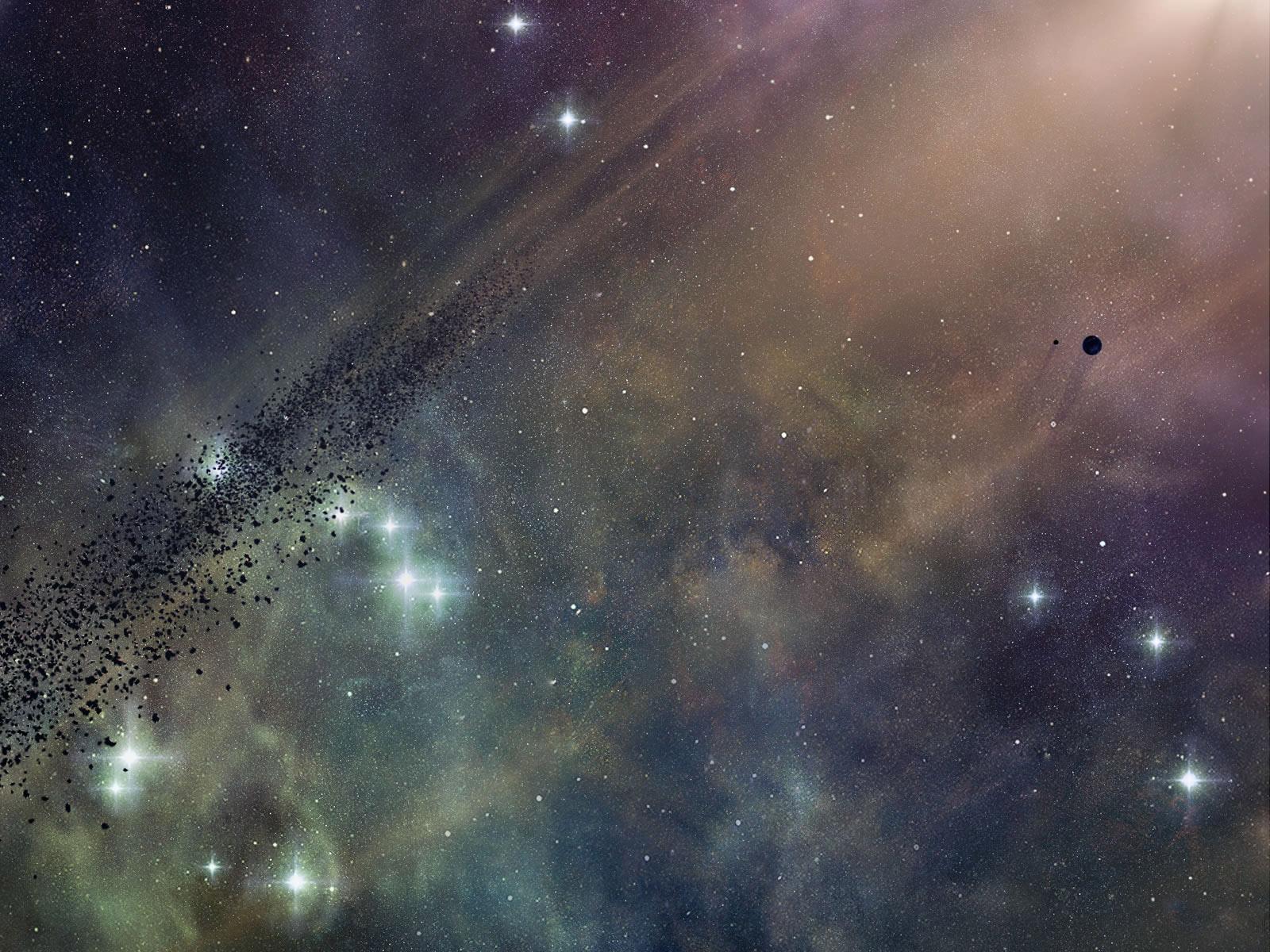 震撼你的视觉 3D星空高清晰壁纸欣赏图片