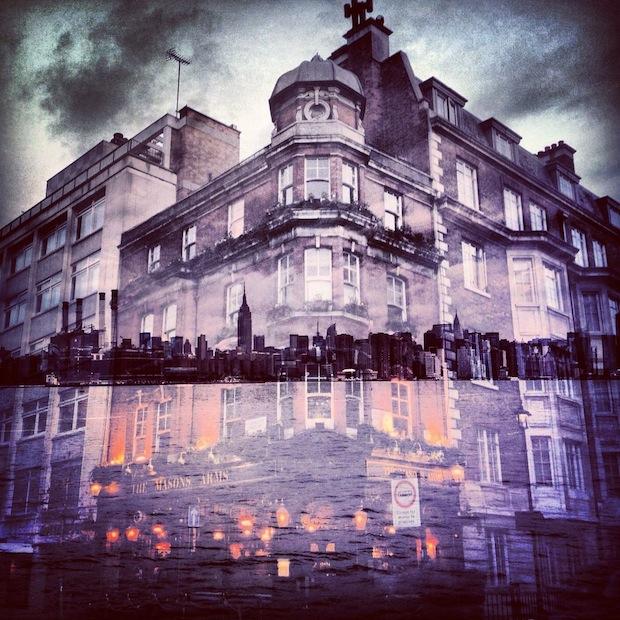 纽约遇见伦敦 摄影师iphone双重曝光作品 组图