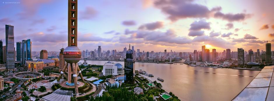 高楼林立的金融王国 上海陆家嘴摄影作品 组图