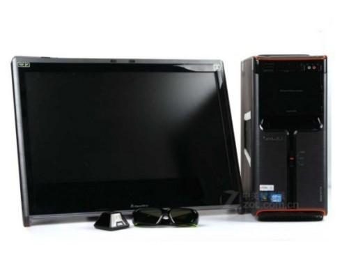 配23寸显示屏 烟台联想k450台式机热卖图片