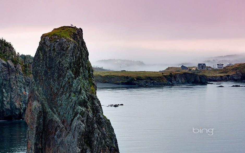 加拿大纽芬兰岛沿岸风光.
