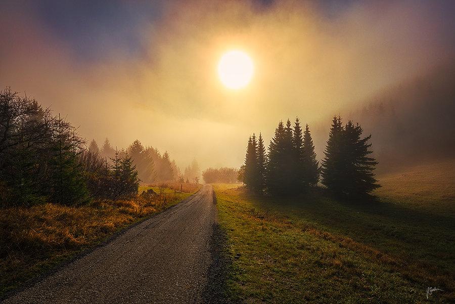 他认为,风景是最好的治愈系和心灵的教师.