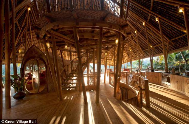 巴厘丛林中的竹子房屋套图-第7张