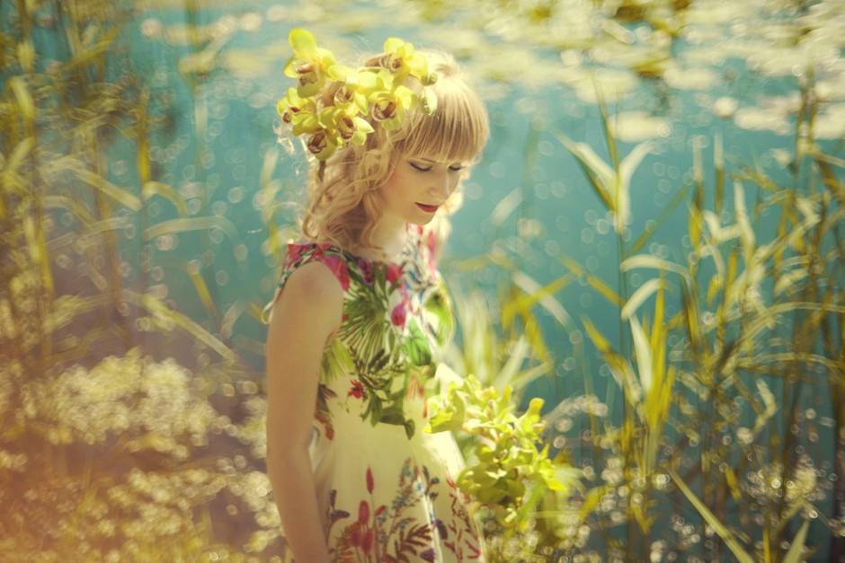 壁纸森女手绘风景
