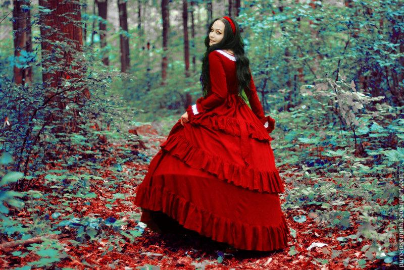 冷艳的童话 学拍哥特风的森林系少女人像 组图