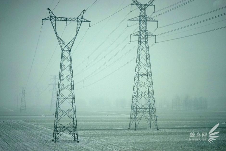 电线杆也是一道风景-一路晚点一路拍:高铁上实拍中原