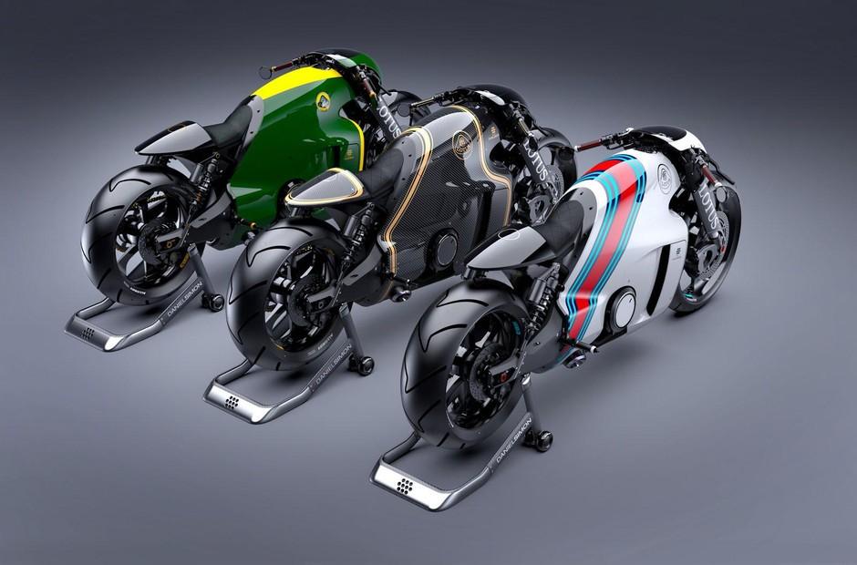 路特斯c-01梦幻摩托车发布-采用打亮碳纤维