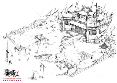 首次揭露 《英雄Ⅱ》江湖场景手绘原画赏
