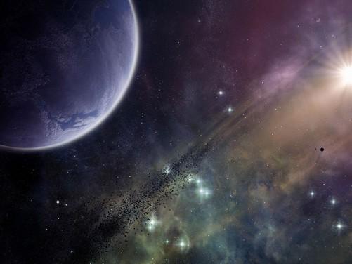 震撼你的视觉 3d星空高清晰壁纸欣赏