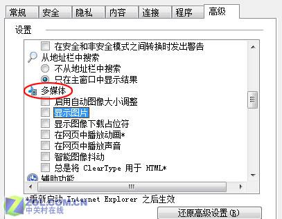 去除不必要选项 加快IE 7页面浏览速度