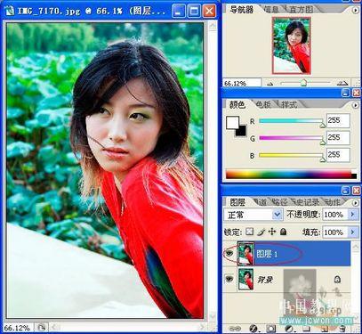 Photoshop实例教程:磨皮锐化一步法