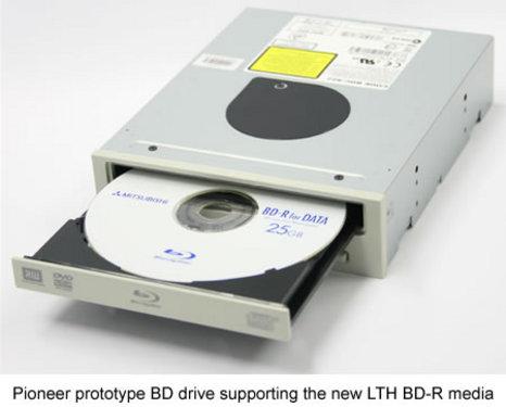 光盘目前还没有量产,能够读取此规格盘片的bd驱动器