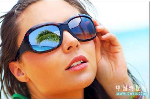 Photoshop教程 改变太阳镜上反光图像 3