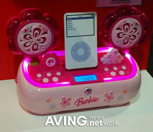 芭比娃娃风格 史上最可爱ipod基座现身