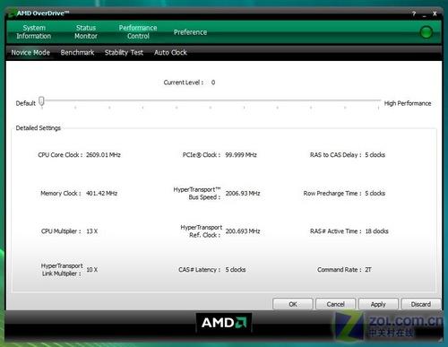 Spider御用超频软件Overdrive_AMD 羿龙X4 9600(盒)_CPUCPU评测