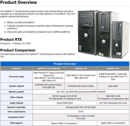 DELL将推出采用AMD三核Phenom的台式机