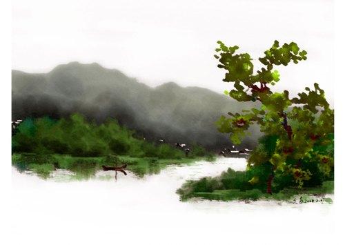 妙用photoshop制作水彩画的简单方法