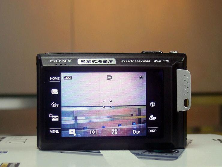 索尼 DSC T70 触摸屏 双重防抖 粉 白 银 黑 索尼T70