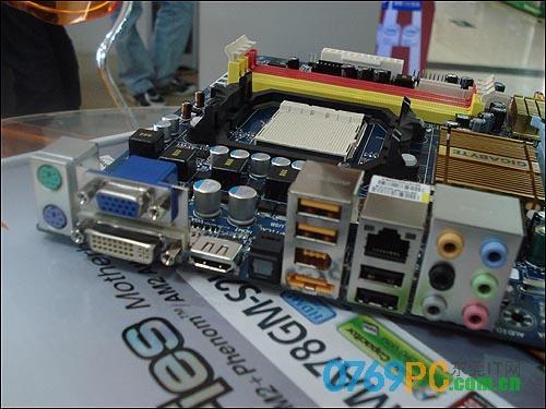 带hdmi接口支持混合交火 技嘉780g主板