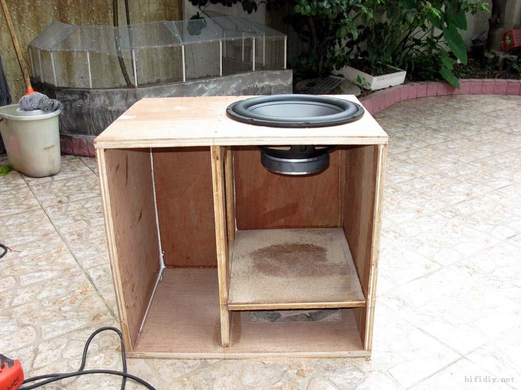 用装修剩下的废木板材料diy低音炮音箱; 咱穷百姓的偶像 用装修边角料