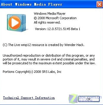 独家:微软Windows Media Player12泄露