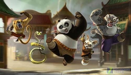 一只可爱的熊猫的背景
