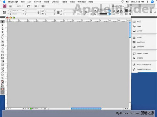 mac版indesign cs4界面圖片