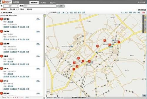 中国电子地图网站大评测之数据详尽度
