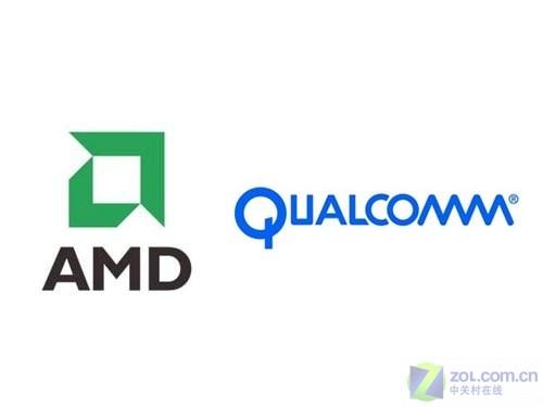 图为:amd与高通logo
