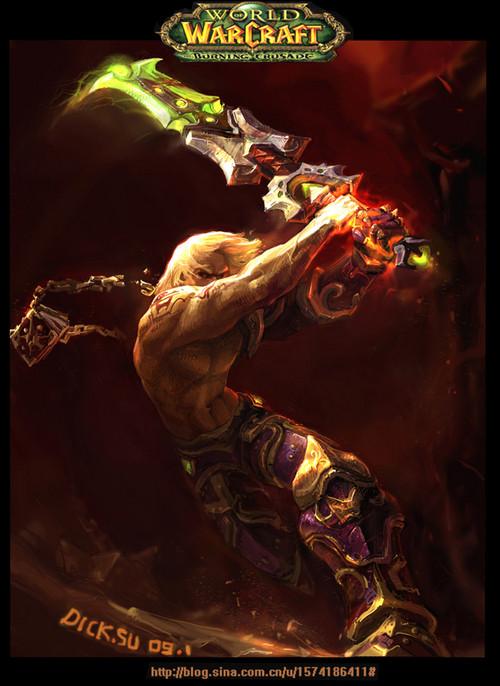 玩家超赞魔兽世界手绘:力量与公正