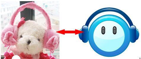 可爱的小熊戴着耳套,是不是和uucall的logo有几分