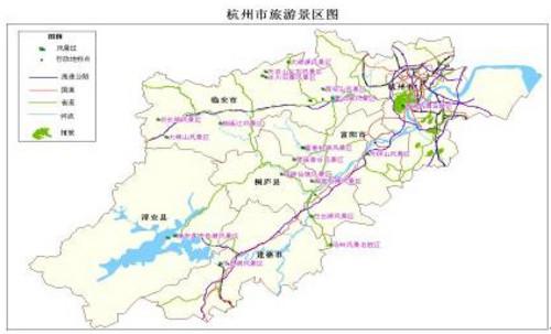 杭州市内旅游地图高清版_电子地图