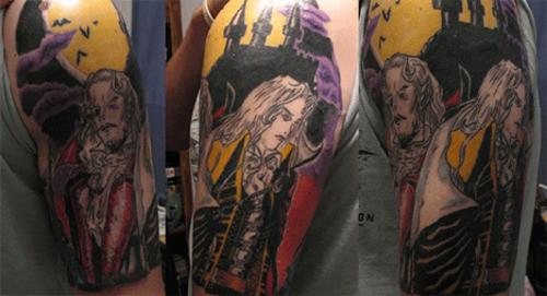 欧美铁杆玩家游戏纹身赏