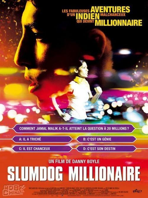 《贫民窟的百万富翁》电影海报
