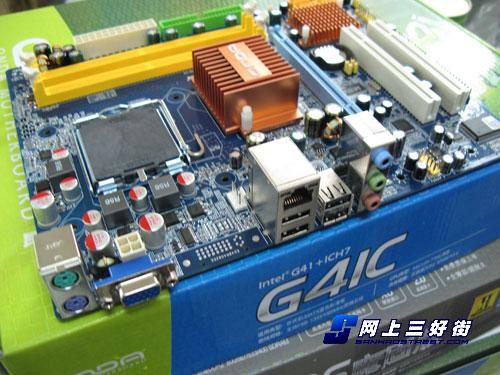 昂达 g41c主板提供了1条pci-e