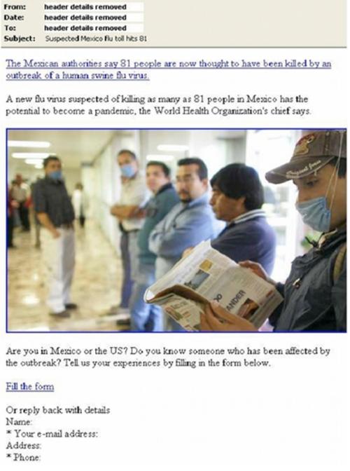 "G&B:警惕来自""猪流感""诱饵的电脑病毒威胁"
