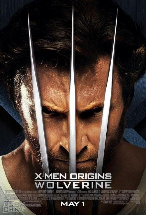 《x战警前传:金刚狼》电影海报