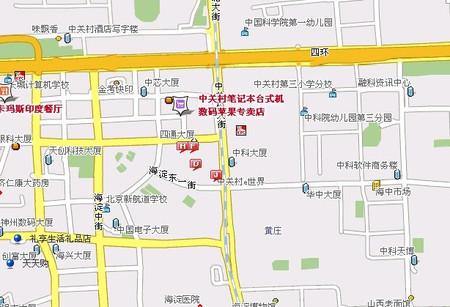 中关村大街11号中关村e世界大厦南侧地下(近中关村家乐福)   乘车路线